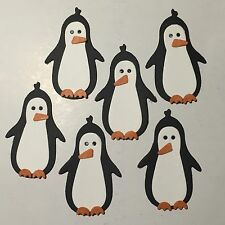 Penguin PINGUINI ANIMALI NATALE NEVE ZOO muoiono tagli (SCRAPBOOK / cards)