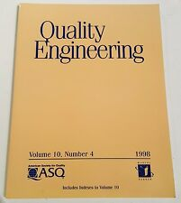 QUALITY ENGINEERING VOL 10 NO 4 1998 AMERICAN SOCIETY FOR QUALITY Marcel Dekker
