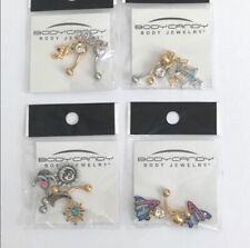 4 Body Candy Jewelry Belly Button Ring Jewel Lot New NIP