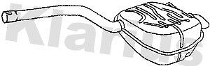 For Ford Galaxy Mondeo S-Max 1.6 2.0 2006-2015 Klarius Rear Exhaust- FE1007J