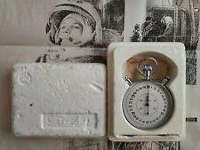 SLAVA Soviet Stop Watch Mechanical stopwatch USSR in original Box 20j SPACE ERA