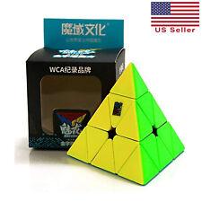 MoYu MeiLong Pyraminx Stickerless Speed Cube Puzzle Twist Magic World Record NEW