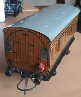 "Vintage ""O"" Gauge Hornby Meccano LNER Tin Plate Guard's Wagon with Lamp Good"