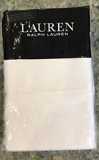 Ralph Lauren Dunham Sateen Pillowcases 300 TC 100% Cotton Standard White NIP