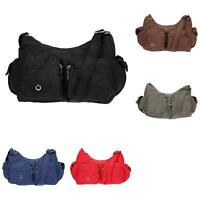 Damen Tasche Canvas Schultertasche Umhängetasche Handtasche Shopper Messenger