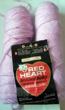 Red Heart Brushed Bulky Yarn 2 Skeins Lilac 85 G Each