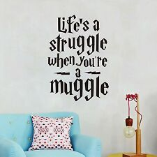 """Life is a struggle..."" Funny Harry Potter Wall Sticker Quotes Vinyl Wall"