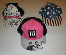 PRIMARK GIRLS ONE DIRECTION 1D SNAPBACK CAP HAT NEW ONE SIZE AGES 7 - 13