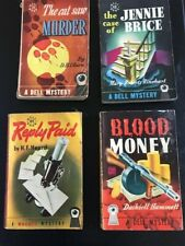 Dashiell Hammett / BLOOD MONEY and other DELL MAP BACKS! 1947