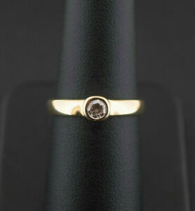 (Wi1) 18CT Gold 0.25CT Rubover Solitaire Ring 2.9gms J/SI2 Size N