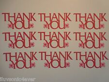 "12 ""Thank You"" phrase die cuts 1 1/2"" x 3 1/4"" greeting card die cut"