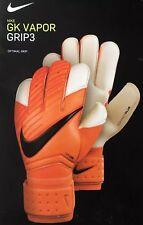 Nike Vapor Grip3 Goalkeeper Gloves GS0347-803 Orange Black Size 8 New