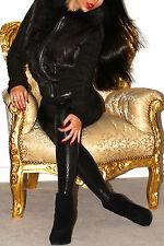 Sexy brun foncé/noir en cuir véritable laine Knit Rabbit Fox à Capuche Fourrure Veste Manteau
