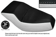 BLACK & WHITE AUTOMOTIVE VINYL CUSTOM FITS HONDA HELIX CN 250 DUAL SEAT COVER
