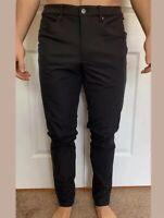 "Lululemon Men's Size 28 ABC Pant Slim 32"" L Obsidian Black OBSI Commission NWT"