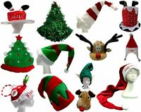 New Adults Unisex Christmas Novelty Hat Xmas Party Dress Up Costume Santa