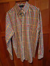 George Straight Wrangler MENS SIZE  S/CH/P western LONG SLEEVE shirt CHECKS