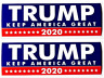 Donald Trump Bumper Sticker 2020 Keep America Great 2-Pack