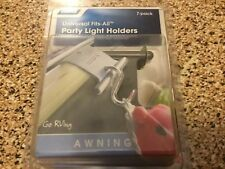 7  pack CAMCO RV awning rail steel hooks party light cord black vinyl holder