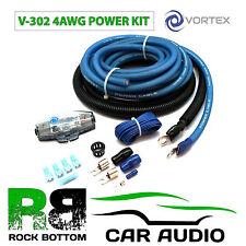 VORTEX v-302 4 AWG 1000 WATT CAR Amp Altoparlante Sub Amplificatore Potenza Kit di cablaggio