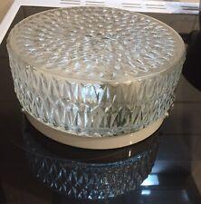 'Verve' Glass Circular Ceiling Bathroom Light - Model BLT 129GB - New