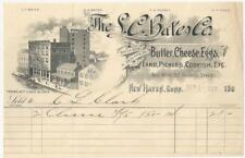 1907 S.C. BATES BUTTER, CHEESE, EGGS BILL HEAD, 46-52 GEORGE ST NEW HAVEN CONN