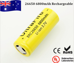 Ultra Fire 26650 3.7V 6800mAh 32A High Drain Rechargeable li-ion Lithium Battery