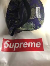 SUPREME Purple EASTERN FLORAL 5-PANEL ADJUSTABLE SUPREME SNAPBACK HAT Cap Lid