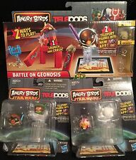 NEW Angry Birds Lot Series 1 Star Wars Rare Telepods 2 packs Battle on Geonosis