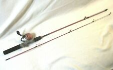 Zebco 202 LADYHTB Pink  Fishing Spincast Rod & Reel Matched Combo