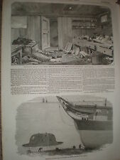 HMS MERLIN Mess Room & Charles babbage IDEA sottomarino 1855 stampe