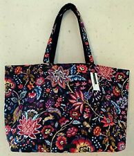 Vera Bradley Foxwood Iconic Grand Tote Reversible Two Sides Large Bag