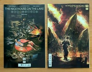 The Nice House on the Lake 4 Bueno Main + Turrill Variant Set DC NM