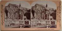 Belgium Dinant Fortezza E Pont Foto Stereo Vintage Citrato