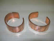 Set of Two(2) New Solid Copper Healing Pain Relief Cuff Bracelets
