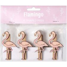 New Fabulous Flamingo Wooden Pegs Home Craft Decor