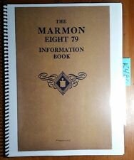 The Marmon Eight 79 8-79 Information Book Owner's Manual 1/30