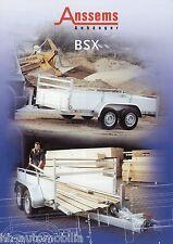 Prospekt Anssems BSX Anhänger 2002 Anhängerprospekt brochure trailer PKWs