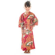6 ans à 7 coton rouge japonais filles KIMONO