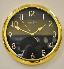London Clock Company Gold Finish Metal Wall Clock 01062