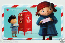 MACY'S CHRISTMAS CLAYMATION CARTOON GIFT CARD! NEW! FREE SHIP! LETTERS TO SANTA!