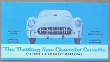 SALES BROCHURE ~ 1953 CORVETTE ~ BLUE