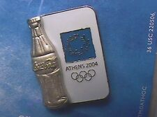 ATHENS 2004 OLYMPIC LAPEL PIN COLLECTIONS: COCA-COLA COKE SILVER CLASSIC BOTTLE
