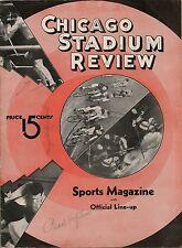1935-36 Chicago Black Hawks-Americans Playoff Program Americans Oust Hawks!!
