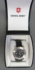 MENS SWISS ARMY WATCH 17 JEWEL SWISS MOVEMENT BEZEL OPENS TO COMPASS