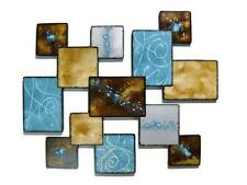 Lovely Laguna Wall Sculpture -Turquoise wall decor, square wall hanging-Art69