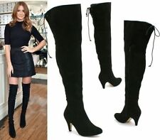 Zip Kitten Heel Knee High Boots for Women