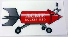 Acme Rocket Sled sticker decal