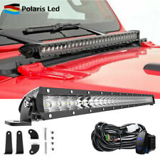 """30"""" LED Light Bar Front Hood Top Offroad Lamp + Wiring For 18+ Jeep Wrangler JL"""