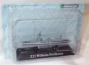 Z21 destroyer war Ship Mounted on display Plinth 1:1250 Scale  new in pack KZ45